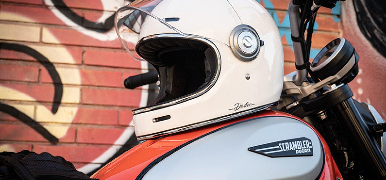 Dexter helmets white classic