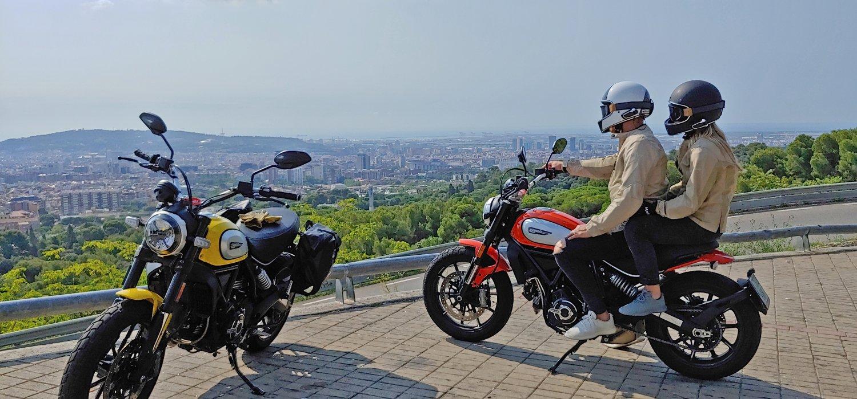 Scrambler Ducati Barcelona. Skyline tour