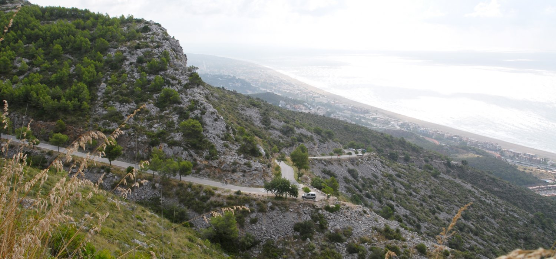 Natural park of Garraf. Barcelona Mediterranean Sea
